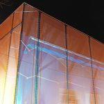 Fachada textil edificio de seguridad la reina 2