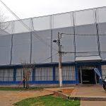 Fachada textil edificio de seguridad la reina 3