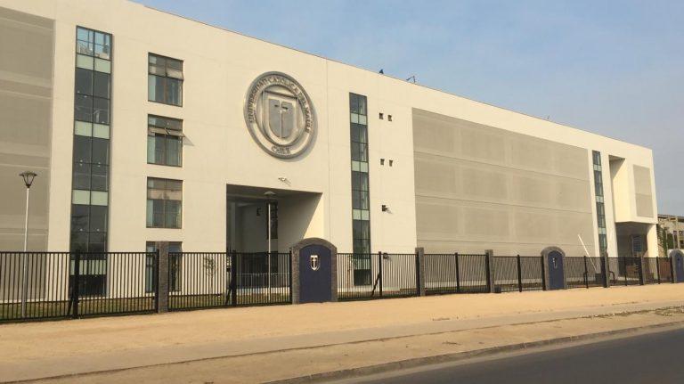 Fachada textil Universidad Católica del Maule